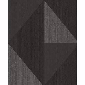 Picture of Diamond Silver Tri-Tone Geometric Wallpaper