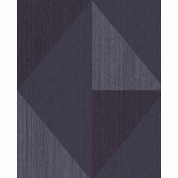 Picture of Diamond Blue Tri-Tone Geometric Wallpaper