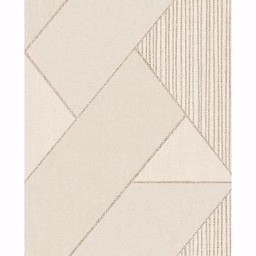 Picture of Art Deco Cream Glam Geometric Wallpaper