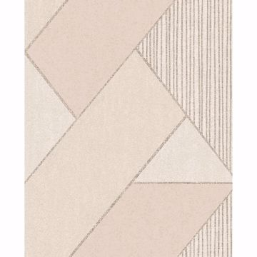 Picture of Art Deco Peach Glam Geometric Wallpaper