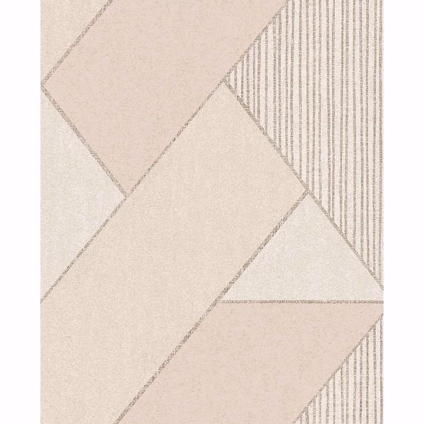 Picture of Art Deco Peach Glam Geometric Wallpaper