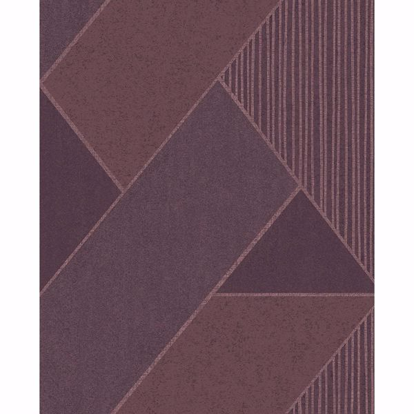 Picture of Art Deco Plum Glam Geometric Wallpaper