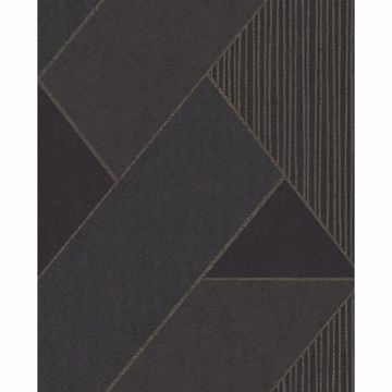 Picture of Art Deco Dark Blue Glam Geometric Wallpaper