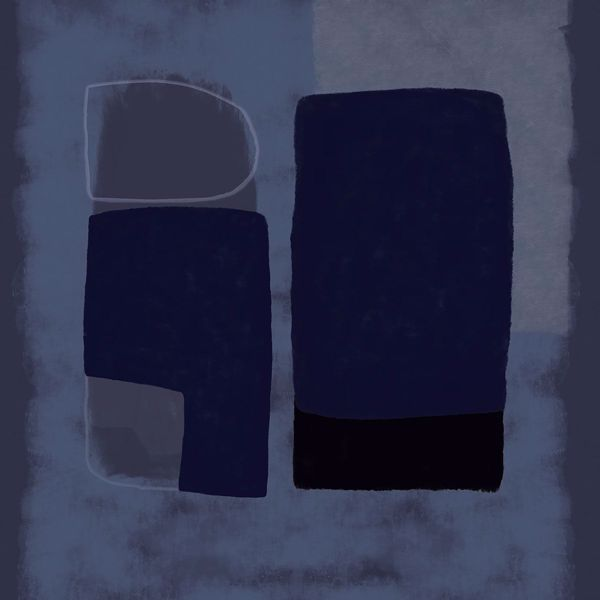 Picture of Blue Abstract Wall Mural