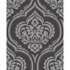 Picture of Glitz Grey Ornamental Damask Wallpaper