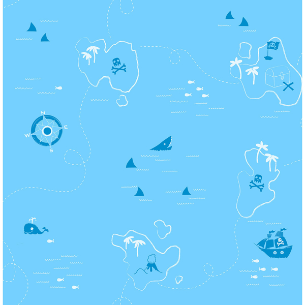 Picture of Charlie Blue Treasure Map Wallpaper