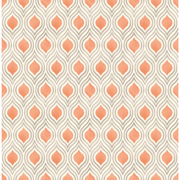 Picture of Ailsa Orange Ogee Wallpaper