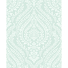Picture of Maya Aqua Damask Wallpaper