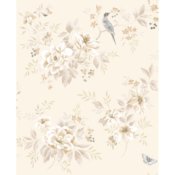 Picture of Liora Cream Floral Wallpaper