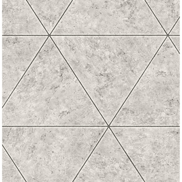 Picture of Benson Grey Marble Triangle Wallpaper
