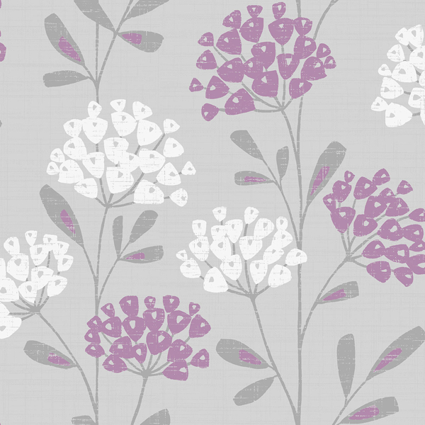 Picture of Ola Grey Floral Wallpaper