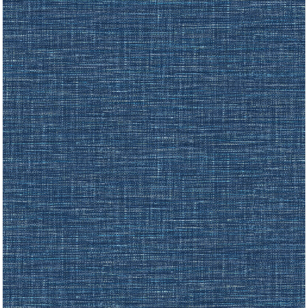 Picture of Exhale Dark Blue Woven Texture Wallpaper
