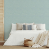 Picture of Agave Aqua Imitation Grasscloth Wallpaper