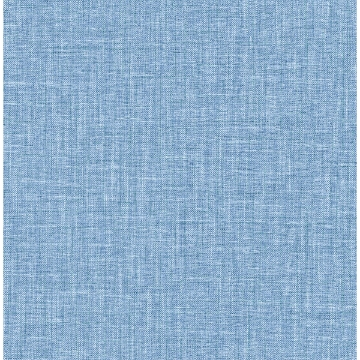 Picture of Jocelyn Blue Faux Fabric Wallpaper