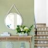 Picture of Jocelyn Green Faux Fabric Wallpaper