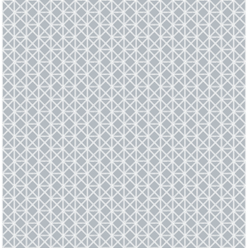 Picture of Lisbeth Grey Geometric Lattice Wallpaper