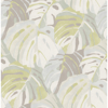 Picture of Samara Lime Monstera Leaf Wallpaper