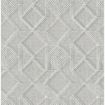 Picture of Moki Grey Lattice Geometric Wallpaper