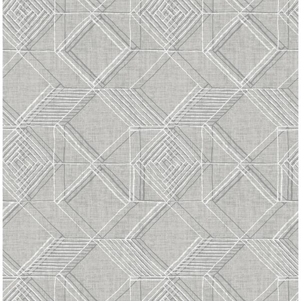 Picture of Moki Grey Lattice Geometric Wallpaper
