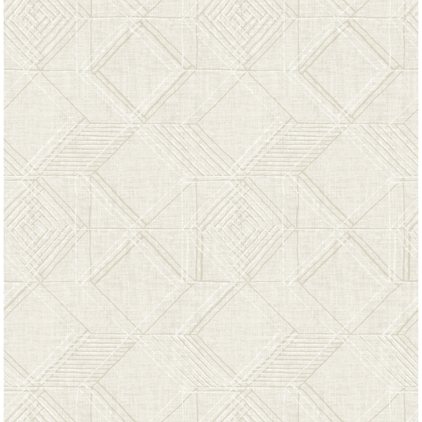 Picture of Moki Off-White Lattice Geometric Wallpaper