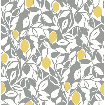 Picture of Loretto Grey Citrus Wallpaper