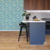 Picture of Loretto Teal Citrus Wallpaper