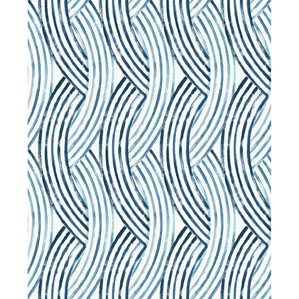 Picture of Zamora Blue Brushstrokes Wallpaper