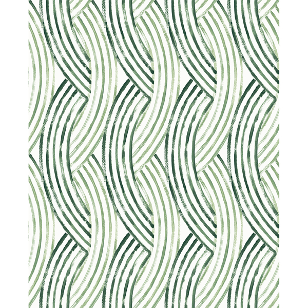 Picture of Zamora Green Brushstrokes Wallpaper