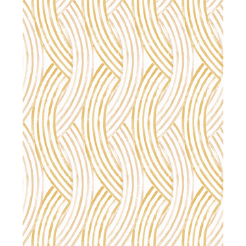 Picture of Zamora Yellow Brushstrokes Wallpaper