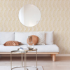 Picture of Zamora Yellow Brushstrokes Wallpaper
