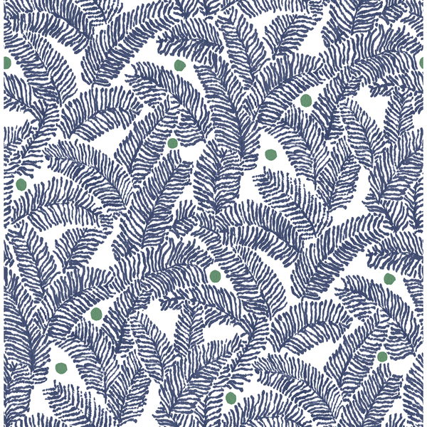 Picture of Athina Navy Fern Wallpaper