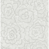 Picture of Periwinkle Light Grey Textured Floral Wallpaper