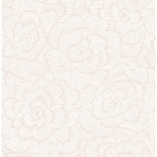 Picture of Periwinkle Pink Textured Floral Wallpaper