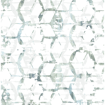 Picture of Augustine Slate Distressed Geometric Wallpaper