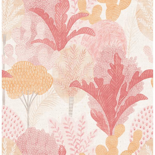Picture of Ari Pink Desert Oasis Wallpaper