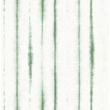 Picture of Orleans Green Shibori Faux Linen Wallpaper