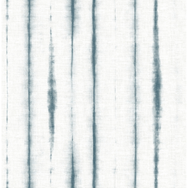 Picture of Orleans Teal Shibori Faux Linen Wallpaper