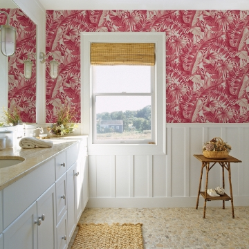 Picture of Alfresco Pink Tropical Palm Wallpaper