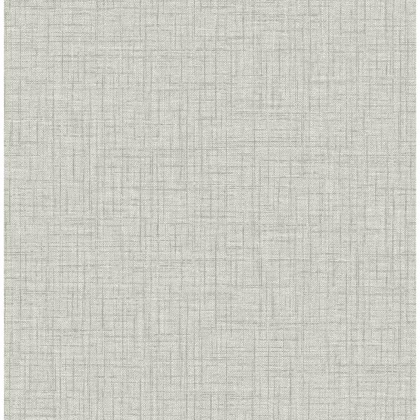 Picture of Jocelyn Grey Faux Fabric Wallpaper
