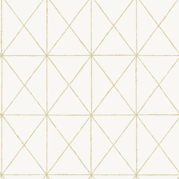 Picture of White & Gold Get In Line Peel and Stick Wallpaper