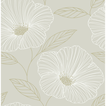 Picture of Dove Floweret Peel and Stick Wallpaper