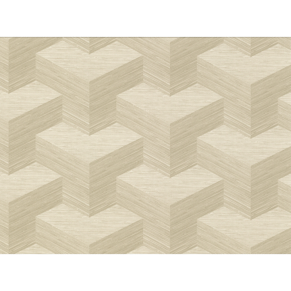 Picture of Y Knot Neutral Geometric Texture Wallpaper
