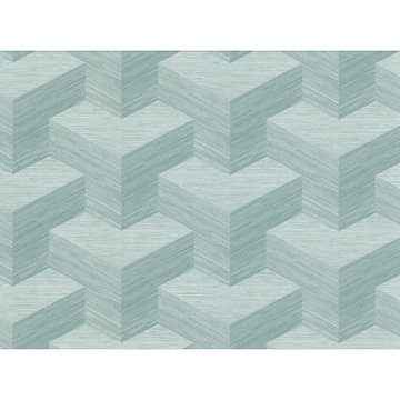 Picture of Y Knot Turquoise Geometric Texture Wallpaper