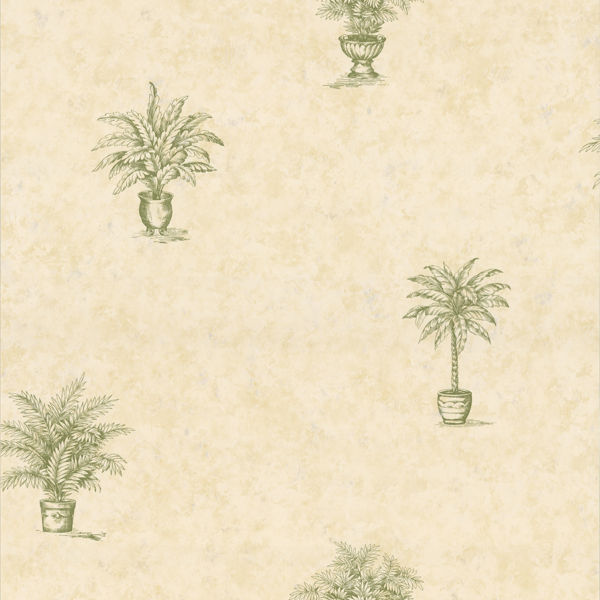 Picture of Planted Palms Botanical Wallpaper