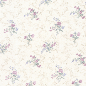 Picture of Marie Purple Delicate Floral Bouquet Wallpaper