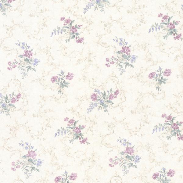 Picture of Marie Purple Delicate Floral Bouquet Wallpaper