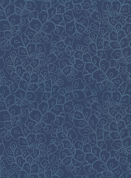 Picture of Ottilie Blue Botanical Wallpaper