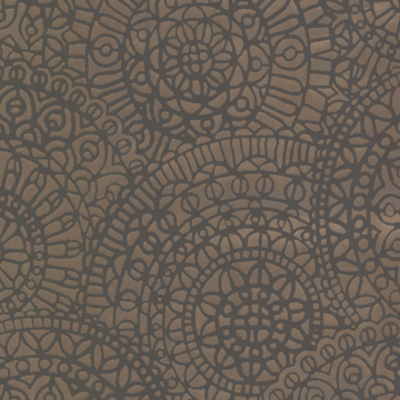 Picture of Leander Bronze Geometric Medallion Wallpaper