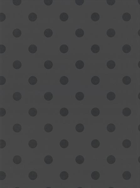 Picture of Debra Grey Matte Polka Dot Wallpaper