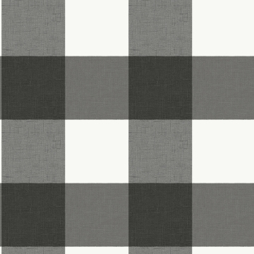 Picture of Charcoal Farmhouse Plaid Peel and Stick Wallpaper